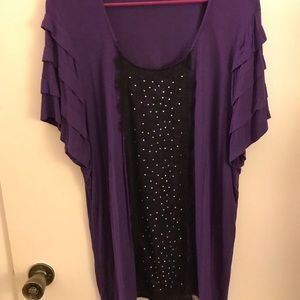 Purple and black top